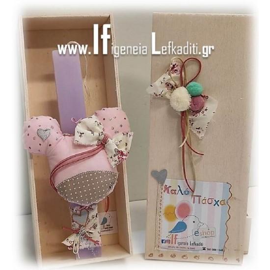 """Χειροποίητη λαμπάδα για κορίτσια """"Minnie mouse - floral"""""""
