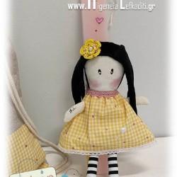 Λαμπάδα με χειροποίητη κούκλα Σαντόρο και σακίδιο πλάτης (Εξαντλήθηκε)