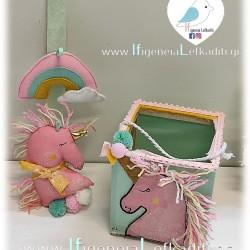 Λαμπάδα για κορίτσια Μονόκερος unicorn -Ουράνιο τόξο- ροζ