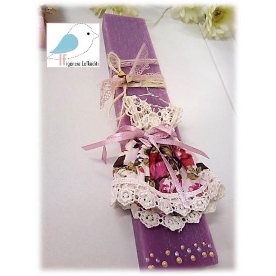 Πασχαλινή λαμπάδα «Φορεματάκι»