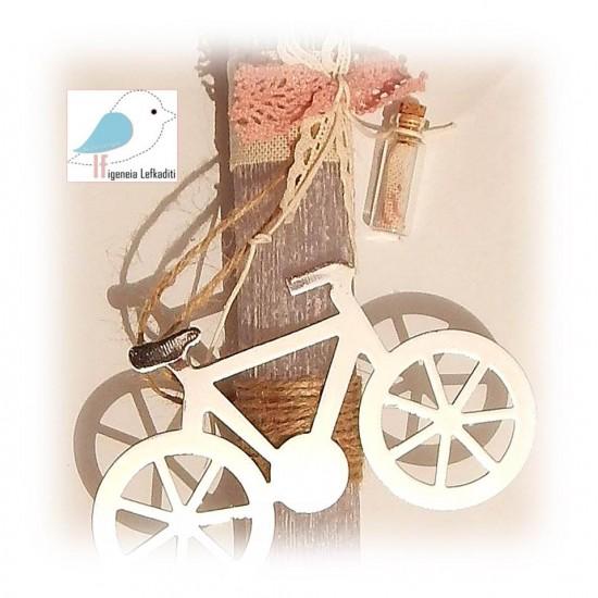 """Χειροποίητη λαμπάδα """"ποδήλατο"""""""
