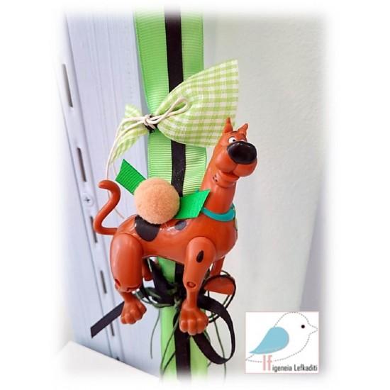 Χειροποίητη Πασχαλινή λαμπάδα Scooby-Doo