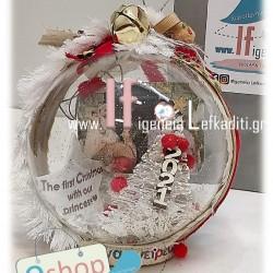 """Χριστουγεννιάτικη Χιονόμπαλα """"The first christmas"""" με φωτογραφία αναλλοίωτη στο χρόνο"""