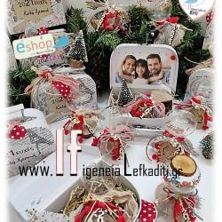 Χριστουγεννιάτικο ΠΡΩΤΟΧΡΟΝΙΑΤΙΚΟ Δώρο αντίστροφης μέτρησης χρόνου με Φωτογραφία