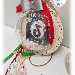 Χριστουγεννιάτικο καδράκι με χιονόμπαλα ΤΙΚ ΤΟΚ