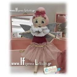 Χειροποίητη υφασμάτινη κούκλα Νεράιδα με όνομα