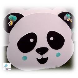 Ξύλινο κουτί- τσάντα αποθήκευσης παιχνιδιών PANDA