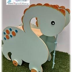 Χειροποίητο τροχήλατο «Δεινόσαυρος»