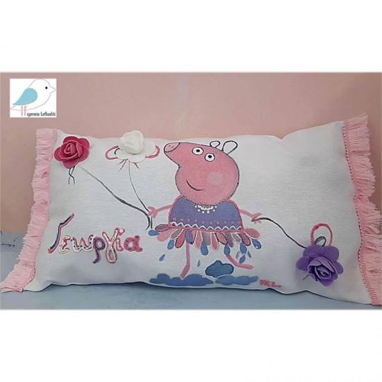 Χειροποίητο διακοσμητικό μαξιλάρι Peppa Pig
