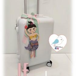 Βαλίτσα τρόλεϊ ΓΟΡΓΟΝΑ σε χρώμα και διακοσμητικό επιλογής σας