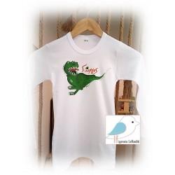 """Ζωγραφιστό μπλουζάκι """"ΔΕΙΝΟΣΑΥΡΟΣ"""""""