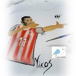 Ζωγραφιστό μπλουζάκι ΠΟΔΟΣΦΑΙΡΙΣΤΗΣ ΚΑΡΤΟΥΝ