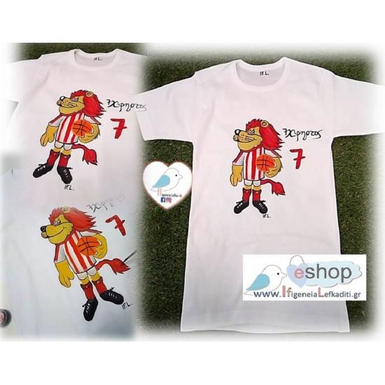 Χειροποίητο ζωγραφιστό μπλουζάκι «Θρυλέων»
