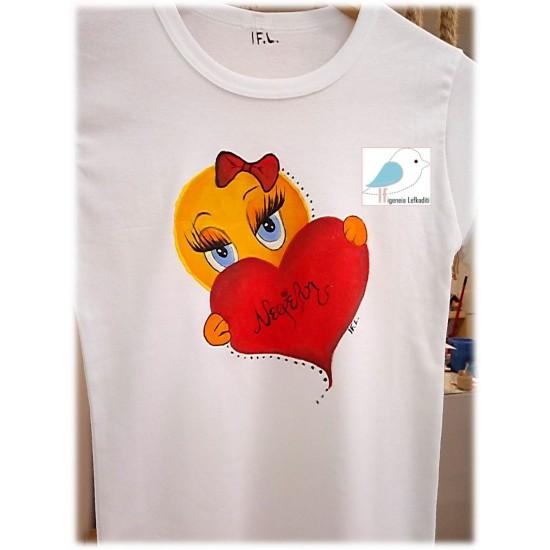 Ζωγραφιστό μπλουζάκι Εμότζι (Emoji)