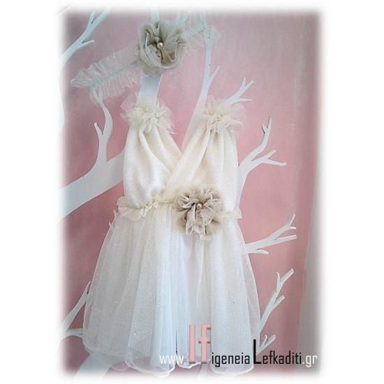 Αρχαιoελληνικό φόρεμα βάπτισης Little angel