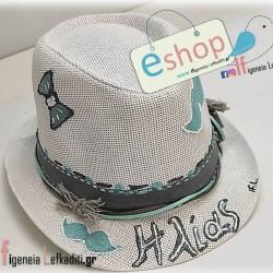 Παιδικό καπέλο βάπτισης little man με όνομα παιδιού