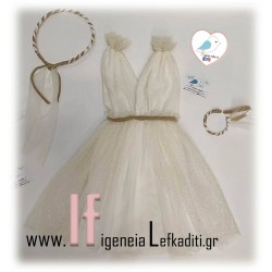 Βαπτιστικό Αρχαιοελληνικό φόρεμα Ελιά