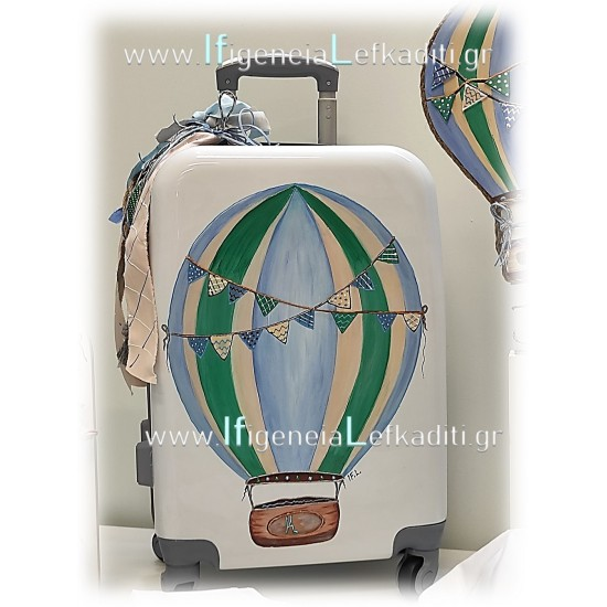 Σετ βάπτισης Αερόστατο - Ταξίδια με βαλίτσα