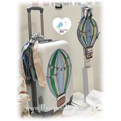 Βαλίτσα τρόλεϊ ζωγραφισμένη στο χέρι Αερόστατο