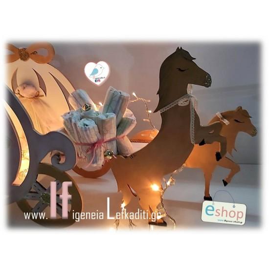 Σετ Βάπτισης «Άμαξα Πριγκίπισσας με Άλογα»