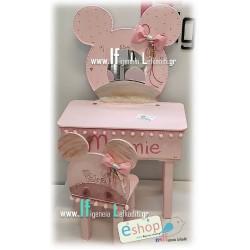 Σετ βάπτισης για κορίτσια «Minnie mouse IF.L.» με γραφείο-μπουντουάρ