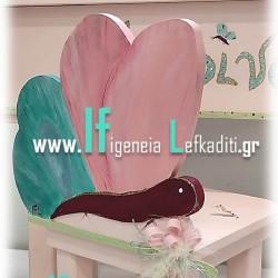 """Σετ βάπτισης για κορίτσι με μπουντουάρ """"Πεταλούδα Floral"""""""