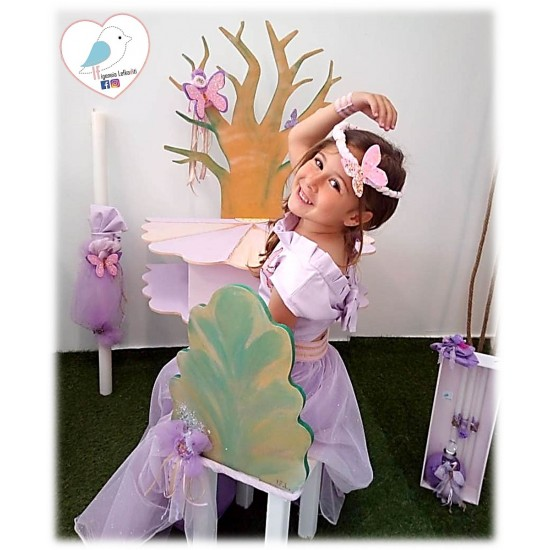 Χειροποίητο σετ βάπτισης «Μαγική Νεράϊδα το πρώτο της γραφείο δέντρο ζωής»