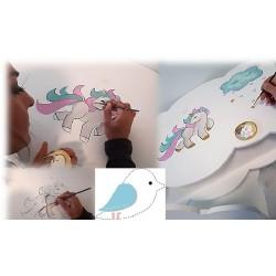 Σετ βάπτισης για κορίτσι με γραφείο σύννεφο Unicorn