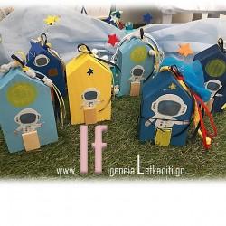 Ξύλινα Σπιτάκια Διάστημα Δωράκια για Παιδικό Πάρτυ