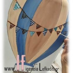 Σετ βάπτισης Αερόστατο με ζωγραφιστή βαλίτσα